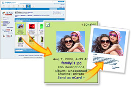 Create a personalized eCard from your photos